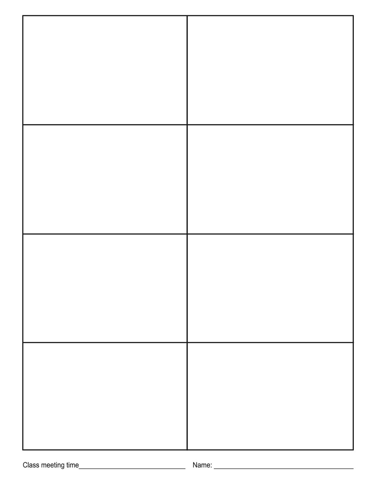Blank Boxes Worksheet