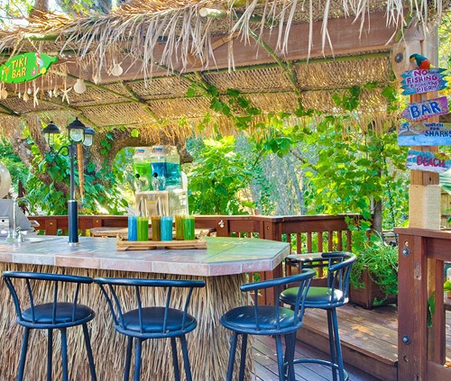 beach tiki bar ideas for the home backyard