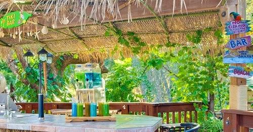 Beach & Tiki Bar Ideas for the Home & Backyard - Coastal Decor Ideas on backyard fort ideas, backyard sauna ideas, backyard island ideas, backyard basketball court ideas, backyard deck ideas, backyard palapa ideas, backyard bbq pit ideas, backyard tree house ideas,