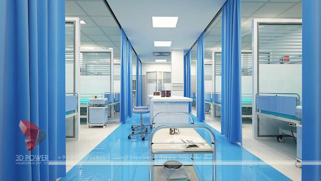 3d View Hospital Design. 3D Interior Rendering Hospital | Hospital  Modelings | 3D Interior Architectural Hospital