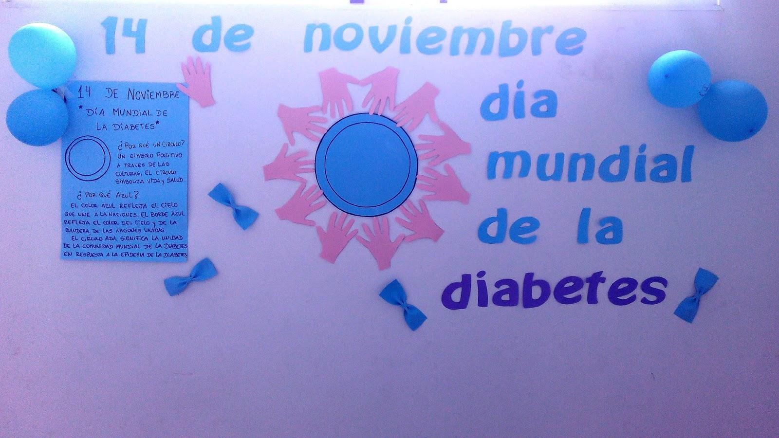 círculo azul colores del día mundial de la diabetes