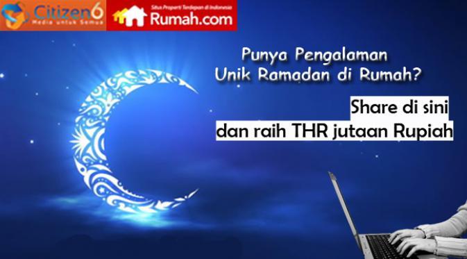 Kontes Blog Ramadan Dirumah Berhadiah THR Total 5 Juta