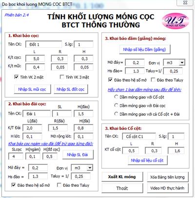 Phần mềm Tôi bóc khối lượng - KS Uông Thắng-2