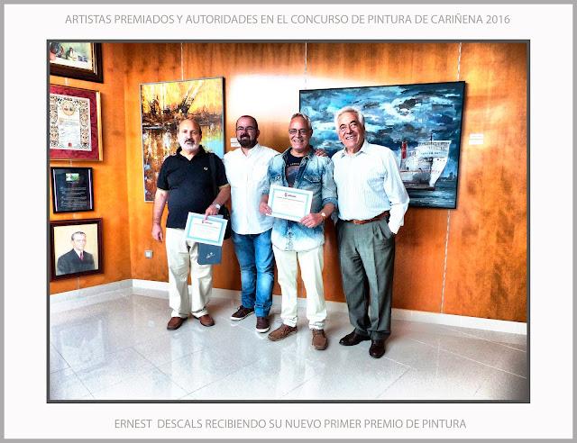 CONCURSO-PINTURA-CARIÑENA-PREMIOS-CONCURSOS-ARAGON-ESPAÑA-FOTOS-PRIMER-PREMIO-ARTISTA-PINTOR-ERNEST DESCALS-