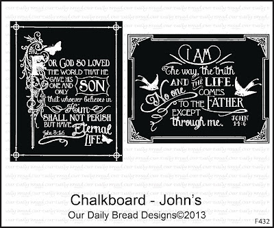 "Our Daily Bread designs ""Chalkboard - John's"""