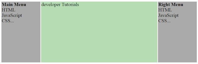 Multiple Columns - HTML Layouts - Using Tables