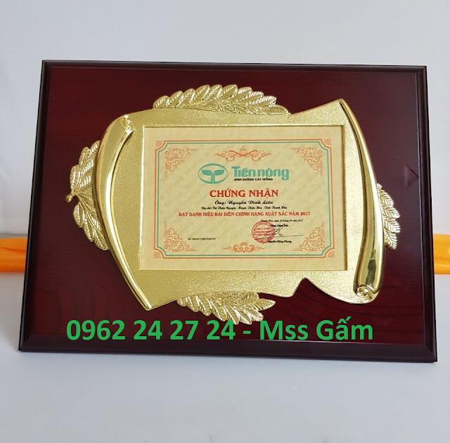 cơ sở bán biểu trưng gỗ đồng, địa chỉ sản xuất bằng khen nhân viên, bằng chứng nhận cao cấp - 260091