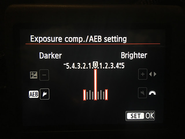 DSLR exposure bracketing settings