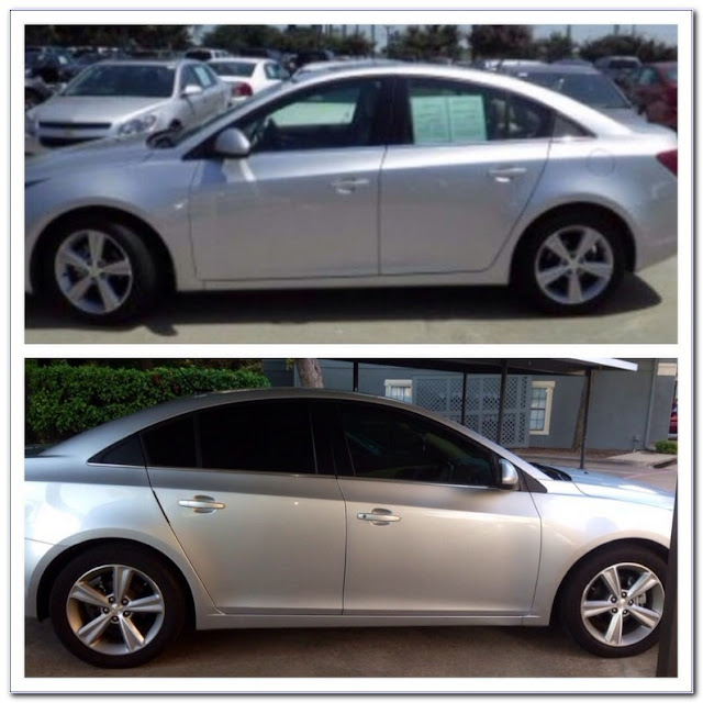 35 Percent WINDOW TINT Pictures Before And After