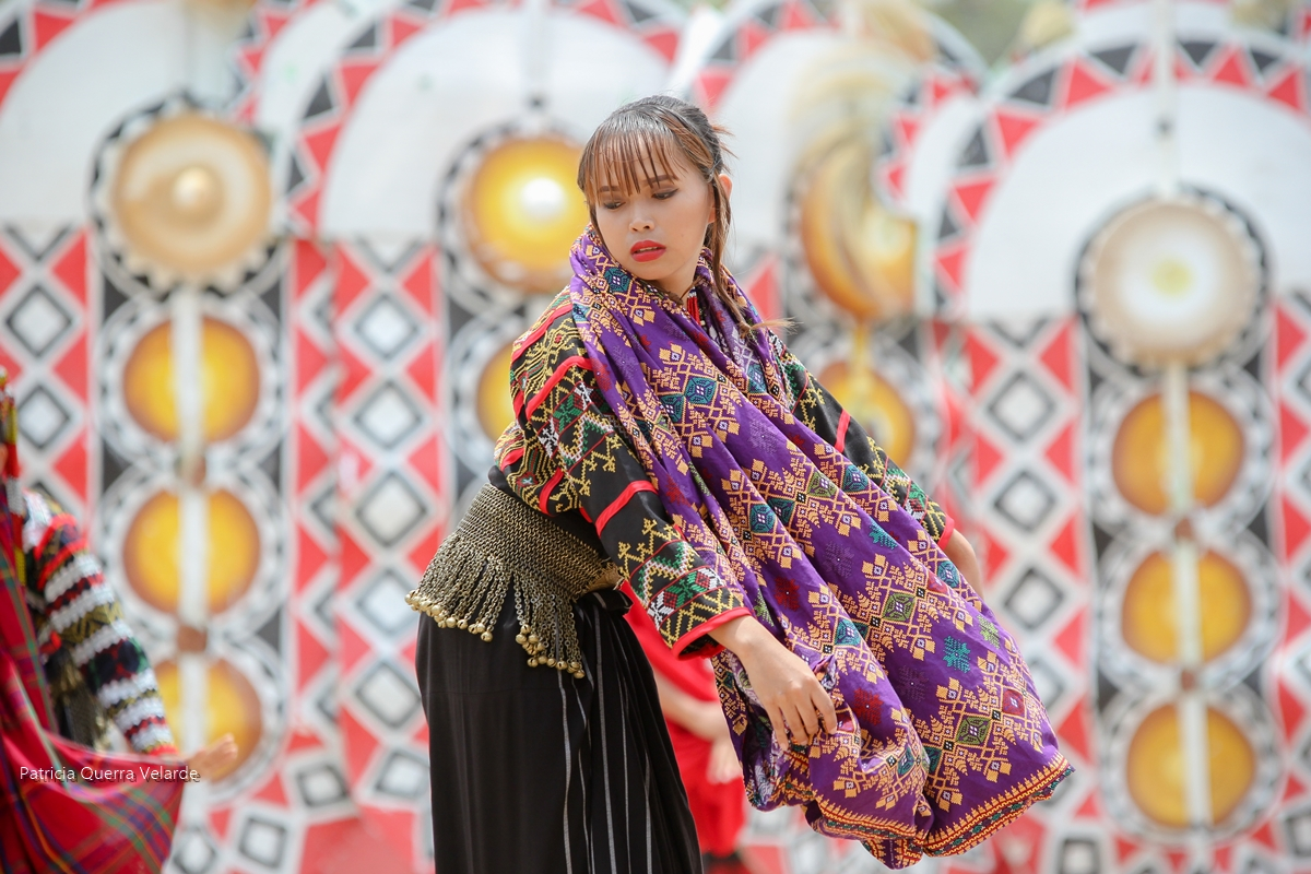 A beautiful Tboli performer during the Seslong Festival 2018 street dancing competition.
