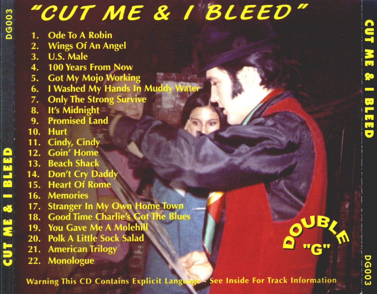 World Of BOOTLEGS: BOOTLEG : Elvis Presley - 'Cut Me & I Bleed', The