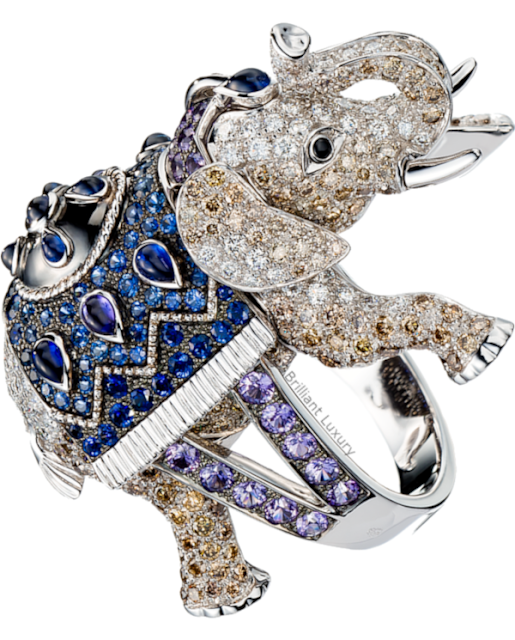 Brilliant Luxury♦Boucheron Paris Hathi Elephant ring