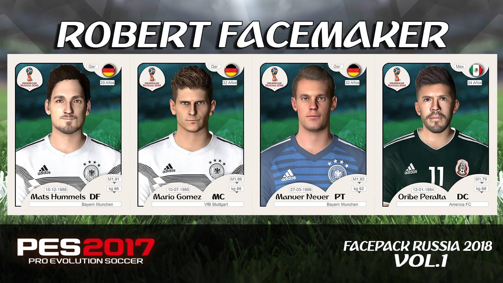 PES 2017 Facepack Russia 2018 Vol.1 by Robert Facemaker