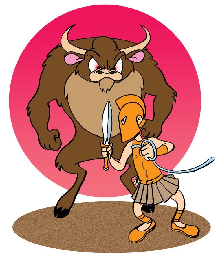 Theseus And The Minotaur Cartoon Kadada Org
