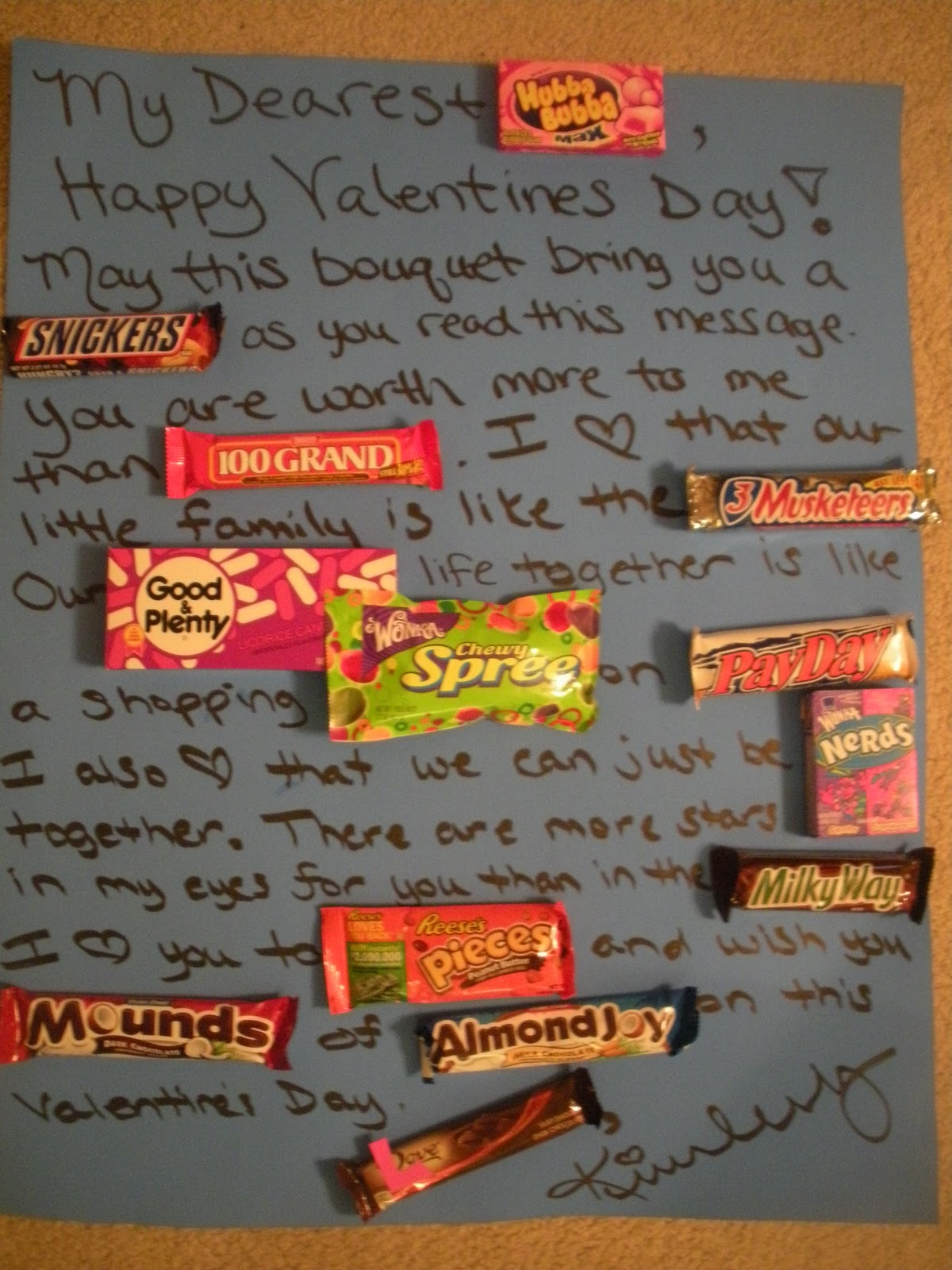 Welcome To The Mad House Valentine Candy Grams