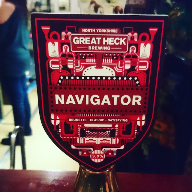 Yorkshire Craft Beer Review: Navigator from Great Heck Brewing real ale pump clip
