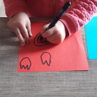 dessin fleur carte facile rapide cadeau enfant bricolage  création maison cadeau