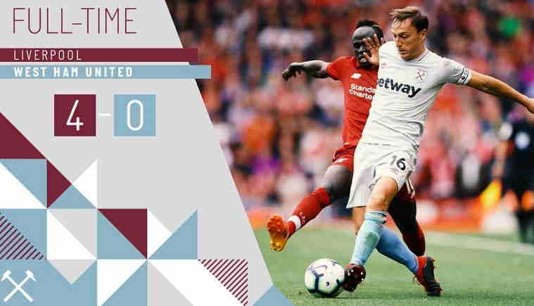Hasil Liverpool vs West Ham United Skor Akhir 4-0 [Premier League 2018]