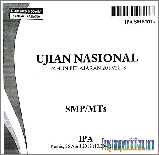 Naskah Soal UN/ UNBK SMP/MTs Tahun 2019