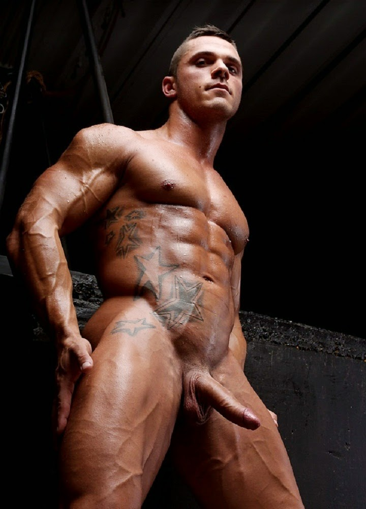 Sportsman Bulge Naked  Male Nude Bodybuilder-3837