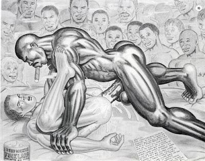 Big Dick Muscle Men Gay Cartoon
