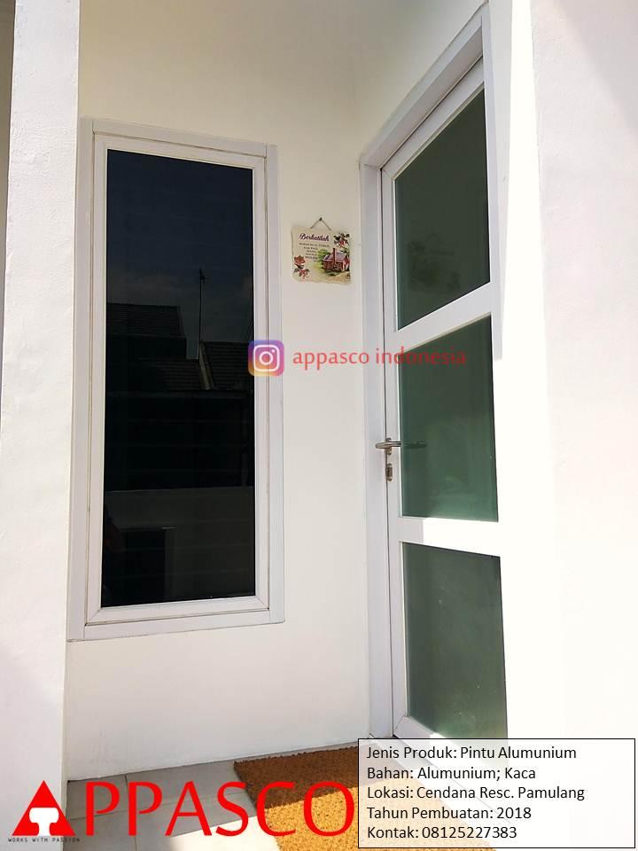 Pintu Kaca Aluminium Anti Rayap di Cendana Residence Pamulang