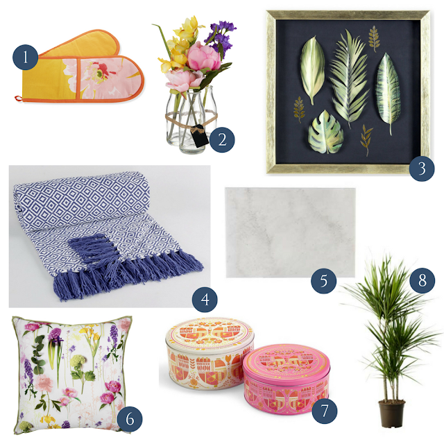 Update your interior design for Spring, adding spring inspired colours, decor and accessories into your home cheaply and without the need for redecorating, using my pick of the best interiors from high street for Spring 2017, all for less than £15