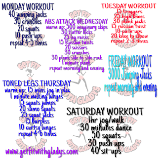 Workout  Guide for the Week