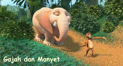 Fabel gajah dan monyet