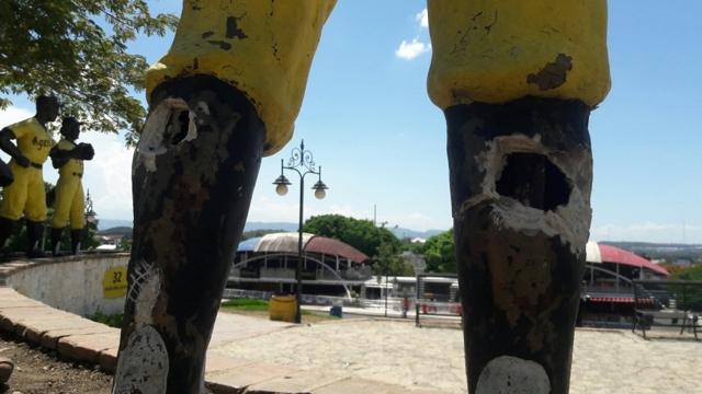 Fotos: Vándalos destruyen Plazoleta a las Águilas Cibaeñas