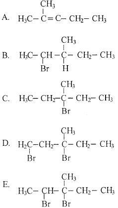 Hasil reaksi adisi 3-metil-2-pentena dengan asam bromida