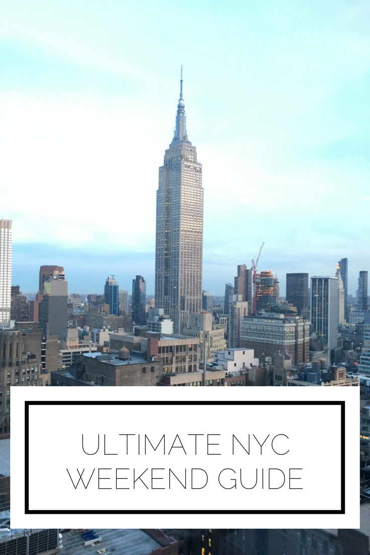 Click to read now or pin to save for later! This NYC weekend guide will give you all of the must see spots, from sightseeing, to food, to hotels, we've got you covered