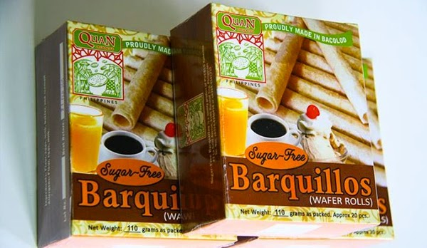 Quan Delicacies sugar-free Bacolod pasalubong - Bacolod City - Bacolod blogger - coffee - barquillos with ice cream