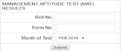 MAT Result 2018–2019 (for SEPT Exam) AIMA MAT Score Card/Results