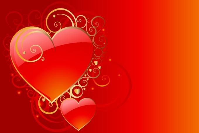 ハートのバレンタイン カード ...