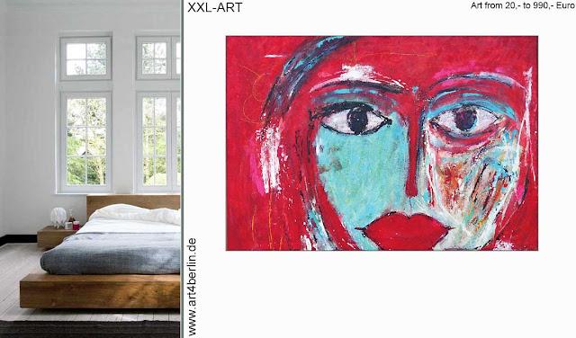 Modern Art, echte Kunst, Gemälde und modernen, großformatigen Kunstdrucken