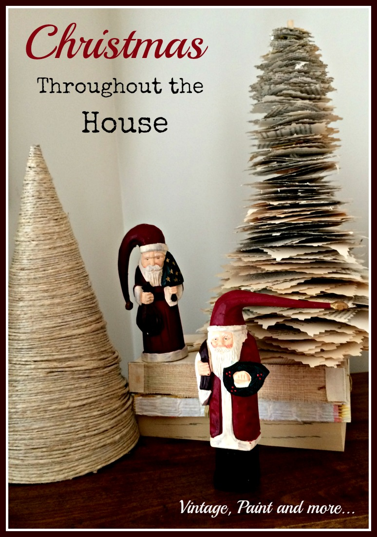 Vintage, Paint and more... Christmas decor using vintage and DIY'd items