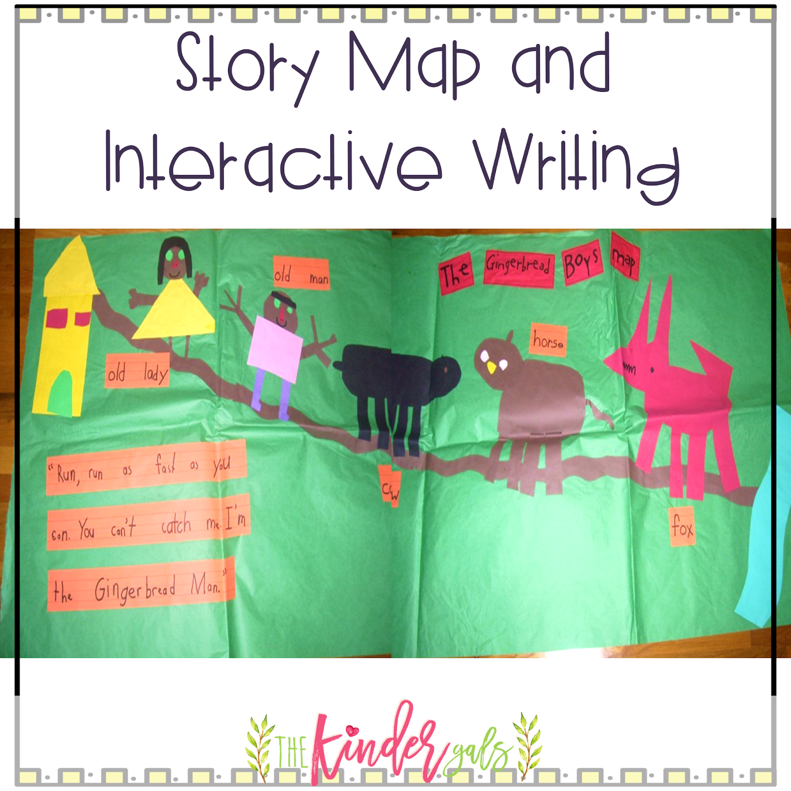 Kindergals More Interactive Writing Retelling The Gingerbread Man