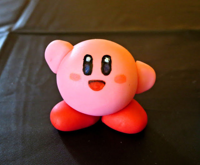 Nerdy Thirty Cake - Fondant Kirby Decoration