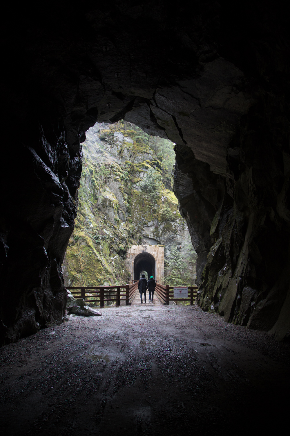 A Rainy Day at Othello Tunnels in Hope, British Columbia