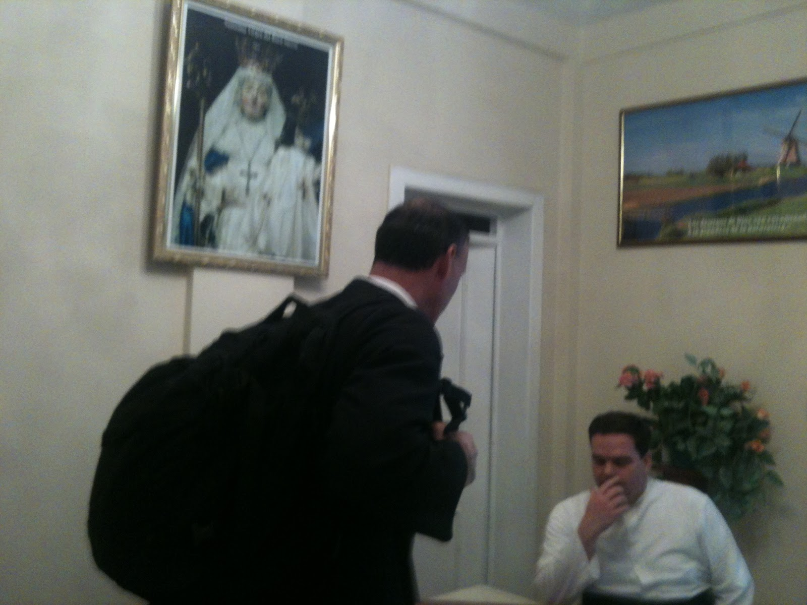 Fr  Poisson Call Your Office! Fr  David Hewko Gets Ready to Jump