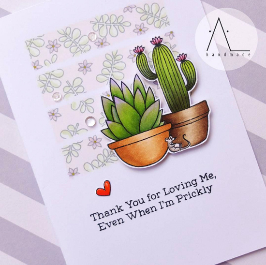 Laina Lamb Design Sweet Succulents stand set and Die-namics - Anna L. #mftstamps