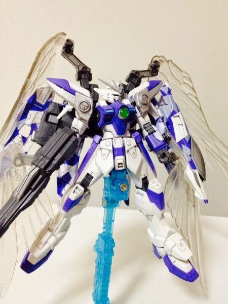 1 144 Gundam Wing Snow White Custom Build Gundam Kits Collection News And Reviews