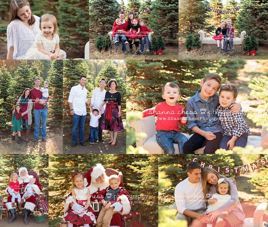 eugene oregon family photographer santa christmas mini sessions