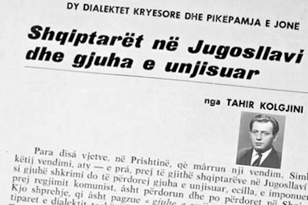 Tahir Kolgjini - Dy dialektet kryesore dhe pikepamja e jonë