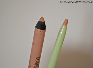 Pixi Bright Eyes Liner in Nude vs Rimmel ScandalEyes Kohl Pencil in Nude - Aspiring Londoner