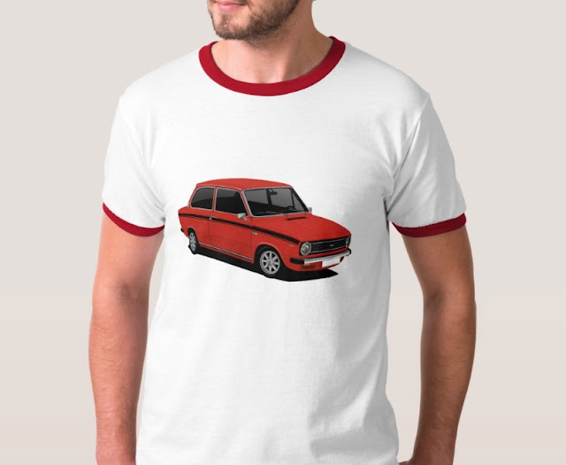 Retro 70's classic red Dutch DAF 66 T-Shirt