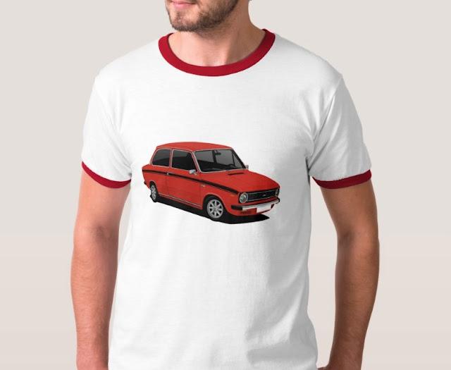 Retro 70's classic red Dutch DAF 66 T-Shirt