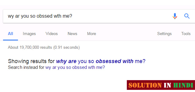 google spelling correct