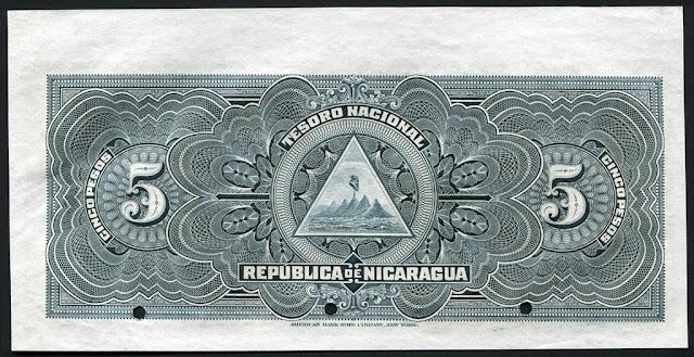 Nicaragua cinco pesos